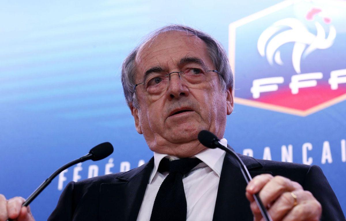 Noël Le Graët en conférence de presse le 10 décembre 2015. – J.E.E/SIPA