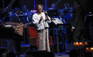 Aretha Franklin le 7 novembre 2017 à New York.