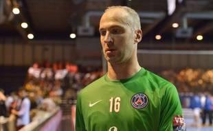 Thierry Omeyer lors du match entre le PSG et Zagreb le 5 octobre 2014.