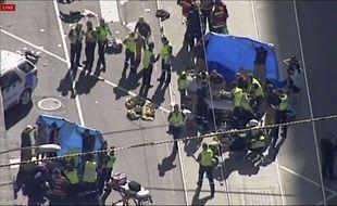 Une voiture a foncé dans la foule à Melbourne jeudi 21 décembre 2017.