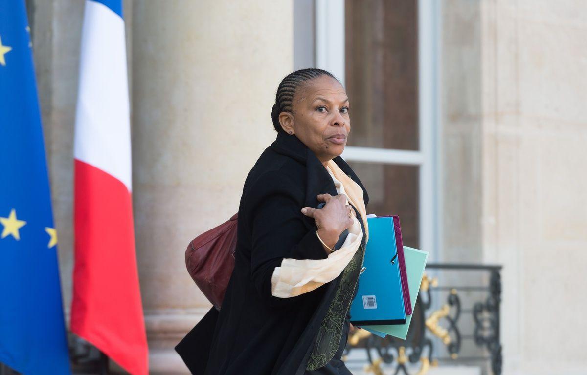 Christiane Taubira quitte l'Elysée, le 20 janvier 2016. – SIPA