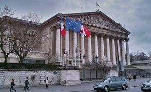 La façade de l'Assemblée nationale à Paris.