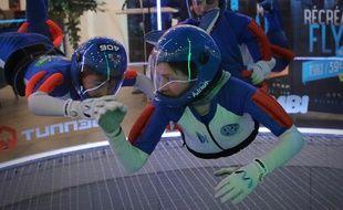 Adrien Gallot, 12 ans, est licencié au Cercle parachutiste de Nice.