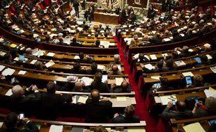 Les députés dans l'hémicycle de l'Assemblée nationale, le 7 janvier 2014.