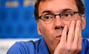 Laurent Blanc, lorsqu'il était sélectionneur de l'équipe de France, le 12juin2012, en Ukraine.