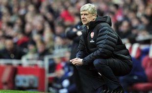 Arsène Wenger, l'entraîneur d'Arsenal, le 16 février 2013, contre Blackburn, en match de coupe.