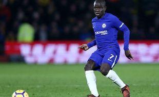 N'Golo Kanté sous le maillot de Chelsea face à Watford, le 5 février 2018.