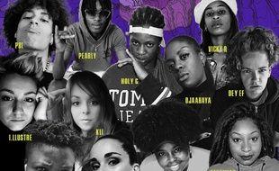 Détail de la pochette de la mixtape Le Rap2Filles Souterraine.