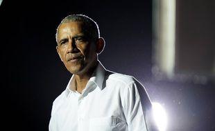 L'ancien président des Etats-Unis, Barack Obama, en campagne pour Joe Biden, le 2 novembre 2020 à Miami.