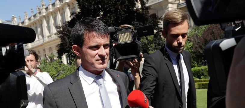 Manuel Valls le 19 juin 2017 à l'Assemblée. AFP PHOTO / Thomas Samson