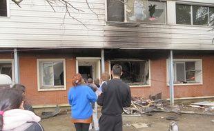 Le 8 mars 2015, après l'incendie du squat des Arènes.