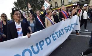 Plusieurs élus et représentants de la France insoumise le 23 septembre 2017 à Paris.