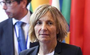 Marielle de Sarnez, ministre des Affaires européennes, à Bruxelles le 22 mai 2017.