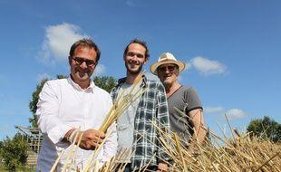 De gauche à droite, Jeff Lubrano, Mike Sallard et son père Gilles. Tous les trois ont lancé La Perche, une marque de pailles à boire... en paille de seigle