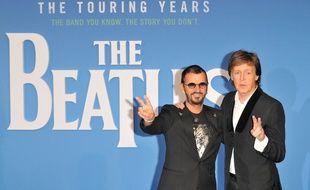 Les anciens Beatles, Ringo Starr et Paul McCartney