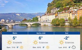 Météo Grenoble: Prévisions du vendredi 6 décembre 2019
