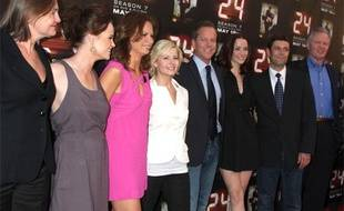 """Une partie du casting de """"24 heures chrono"""" saison 7 au Wadworth Theater à Westwood, Californie, le 12 mai 2009."""