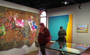 La salle d'entrée de l'exposition permanente, à l'Institut du monde arabe de tourcoing.