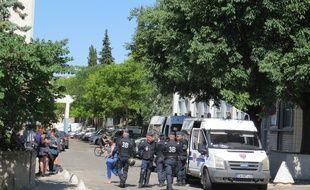 Une opération de police à la Castellane le 15 juin 2015.
