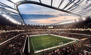 Le futur stade des Lumières de Lyon.