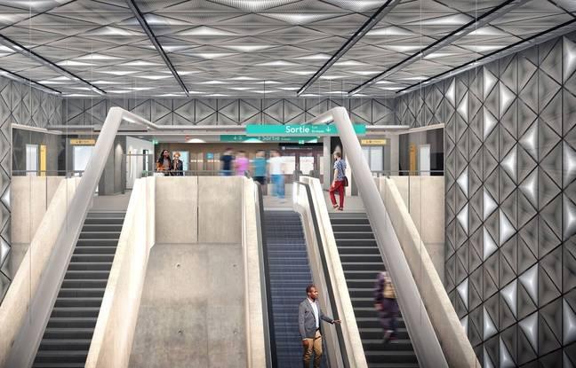Image de synthèse de la future station Colombier