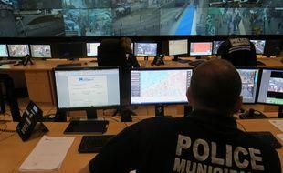 Marseille, le 3 dÈcembre 2014, visite du centre de supervision urbain.