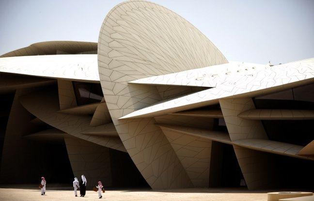 Le musée national du Qatar, bâtiment conçu par l'architecte français Jean Nouvel, le 28 mars 2019 à Doha