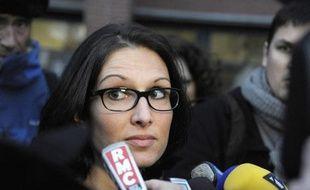 Agnès Dufetel-Cordier l'avocate de l'un des adolescents toulousains candidats au jihad en Syrie, le 30 janvier 2014 face aux journalistes à Toulouse