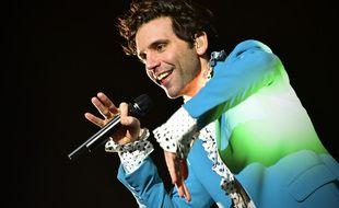 Le chanteur Mika en concert au PalaPartenope de Naples en février 2020