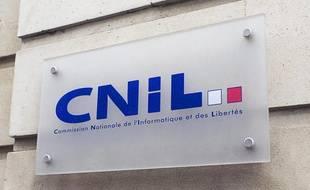 Le logo de la Cnil à Paris.