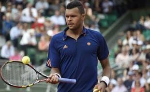 Jo-Wilfried Tsonga àRoland-Garros, le 25 mai 2014.