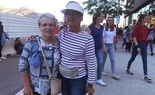 Bruna (à gauche) et Maryvonne ne sont pas des habituées des stades.