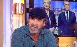 Eric Cantona dans «C à Vous», le 13 novembre 2017.