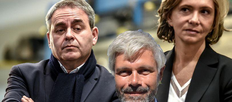 Xavier Bertrand, Laurent Wauquiez et Valérie Pécresse.
