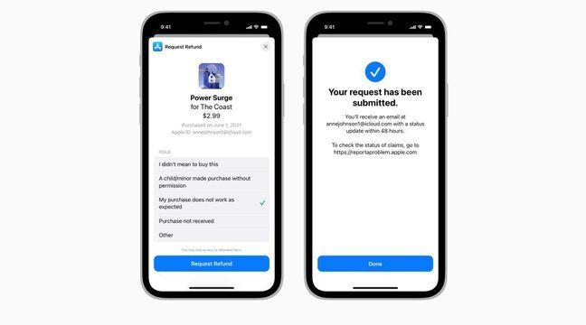 Apple: Les demandes de remboursement des achats intégrés in-app seront simplifiés sous iOS 15