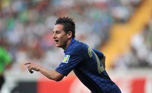 Le joueur du Losc Florian Thauvin sous le maillot de l'équipe de France U20, le 10 juin 2013, en Turquie.
