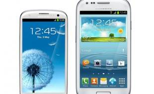 Le Galaxy S III mini de Samsung face au Galaxy S III.