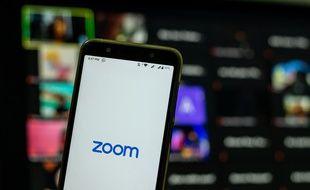 L'application de visioconférence Zoom.
