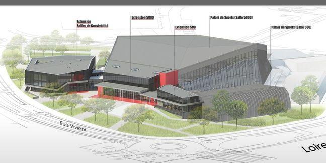 Un visuel du Palais des sports de Beaulieu en 2020.