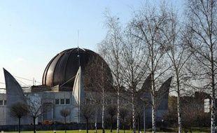Vue générale du chantier de la grande mosquée de Strasbourg, lors de sa construction en 2011