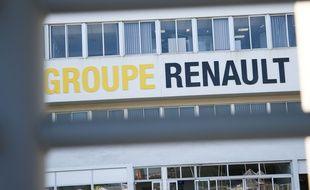 Illustration à la Fonderie de Bretagne, usine du groupe Renault a Caudan dans le Morbihan, le 26 mai 2020. Avec trois autres usines Renault en France, l'usine est menacée de fermeture.