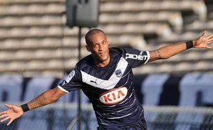 Yoan Gouffran, le 20 août 2011, à Bordeaux, contre Auxerre.