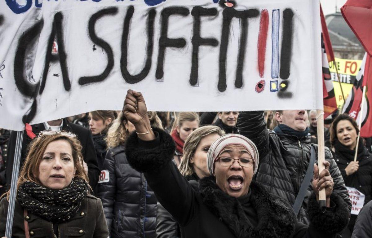 Une grève des fonctionnaires en janvier 2016. – JEAN-PHILIPPE KSIAZEK / AFP