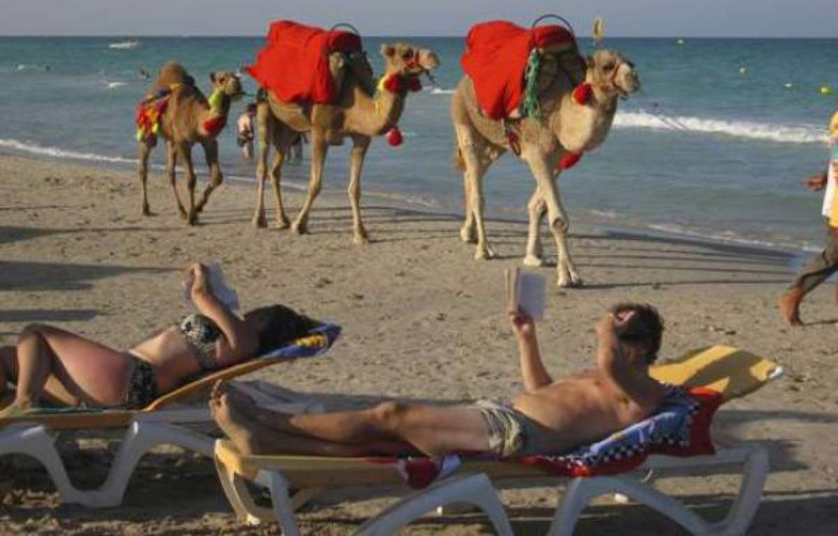 Une plage de Djerba (Tunisie) en 2008.  – Henryk T. Kaiser / Rex /REX/SIPA