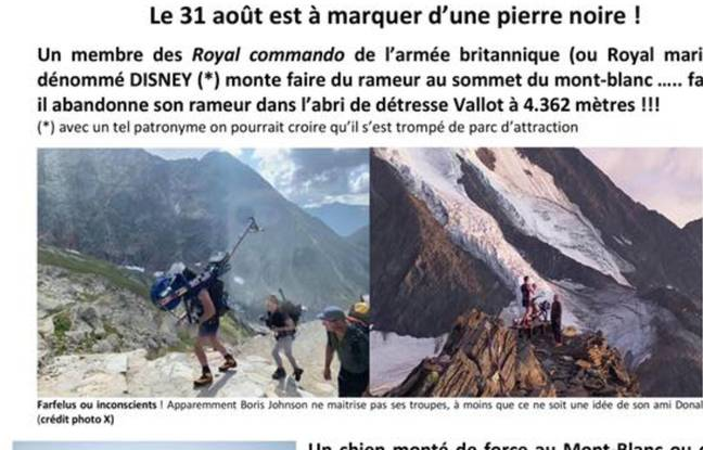 Un Britannique abandonne son rameur sur le Mont-Blanc, un élu se plaint des «hurluberlus»