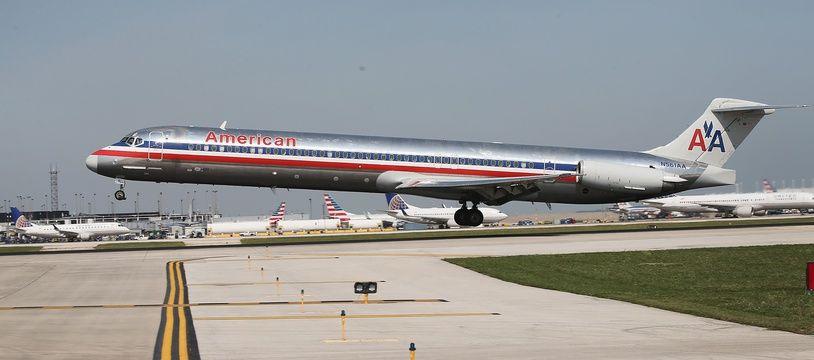 Un appareil de la compagnie American Airlines à l'aéroport international d'O'Hare de Chicago, le 19 septembre 2014.