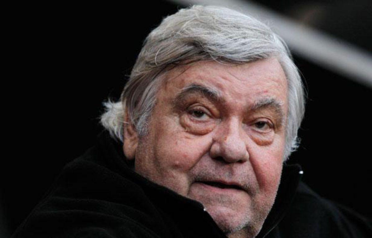 Louis Nicollin, le président du club de Montpellier, le 7 mai 2012 pendant le match contre Rennes. – Stephane Mahe / Reuters