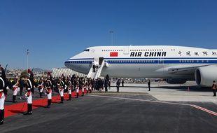 Le président Xi Jinping à son arrivée à Nice