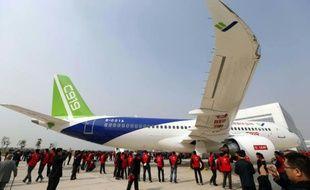 Le nouvel avion moyen-courrier chinois, le C919 à Shanghaï le 2 novembre 2015