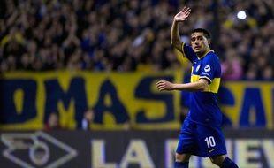 Juan Roman Riquelme sous les couleurs de Boca Juniors, le 29 septembre 2013.